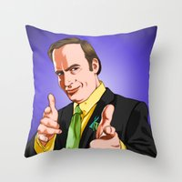 better call saul Throw Pillows featuring Better Call Saul by Ryan Ketley