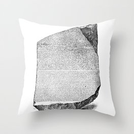 Egyptian Rosetta Stone Throw Pillow