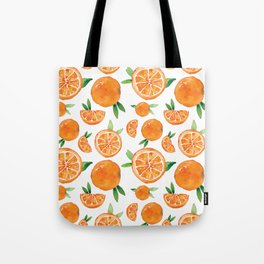 Zesty Orange Pattern Tote Bag