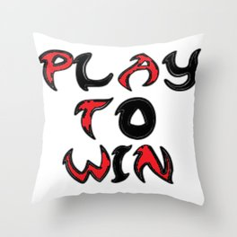 Play To Win Throw Pillow