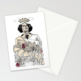 Woman sergeant queen Stationery Cards