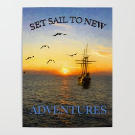 New adventures painting - by Brian Vegas Poster