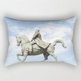 Roumania, Equestrian Statue Of Charles I, Bucarest Rectangular Pillow
