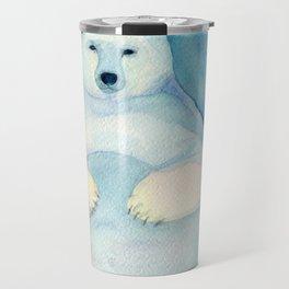 Polar Bear. Watercolor illustration Travel Mug