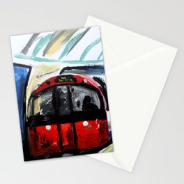 London Underground Piccadilly Line Acrylics On Paper Stationery Cards