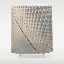 Chrome Dots. Fashion Textures Shower Curtain