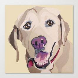 Emma the Yellow Lab- Pet Portrait Canvas Print