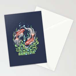 Golden Fish 3 Stationery Cards