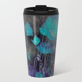 Poppies Abstract Travel Mug