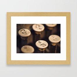 Key Board Framed Art Print