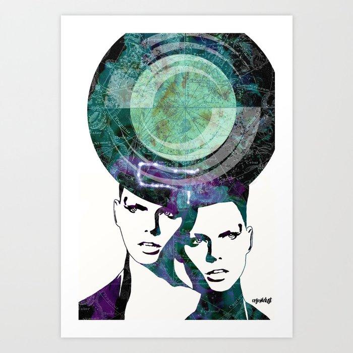 Gemini (zodiac series 2) Art Print
