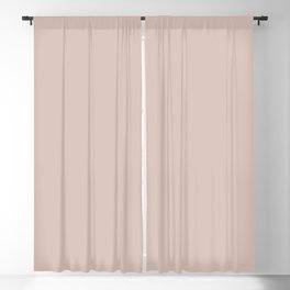 Dusty Carnation Pastel Pale Pink Solid Color Parable to Valspar Rose Scroll 2002-10C Blackout Curtain