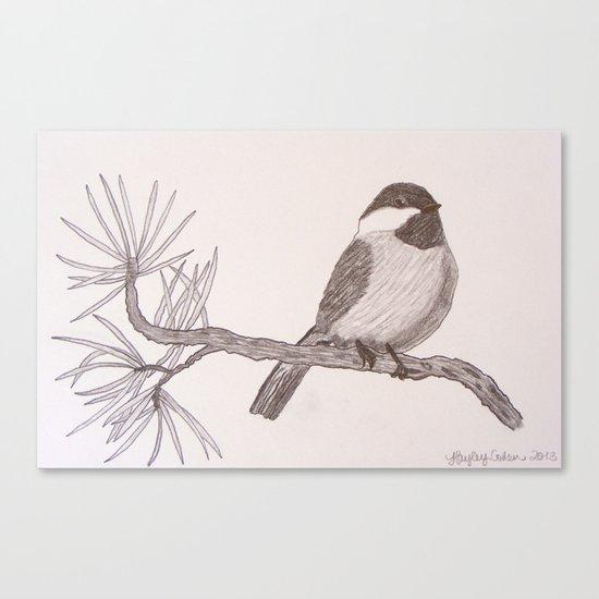 Chicka-dee-dee-dee Canvas Print