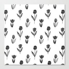 Black tulips Canvas Print