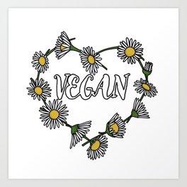 Vegan Daisy Chain Heart Art Print