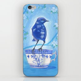 coffee loving splendid fairy wren iPhone Skin