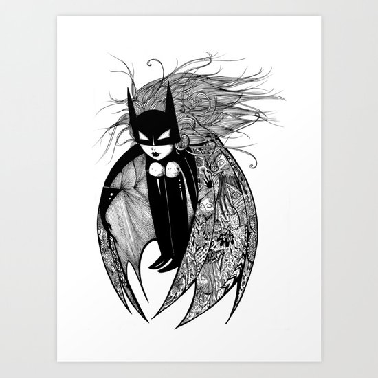 Batwoman Art Print