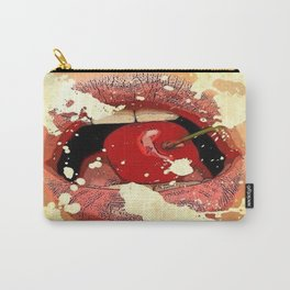 Red Cherry Lips Carry-All Pouch