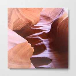 Antelope Colors Abstract Sandstone Waves Metal Print