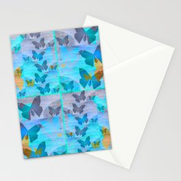 Simple Butterfly Geometric Print Stationery Cards