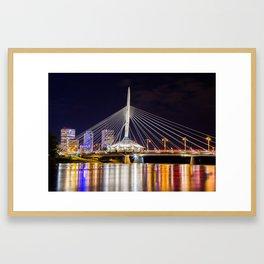 Winnipeg Provencher Bridge 2015 Framed Art Print