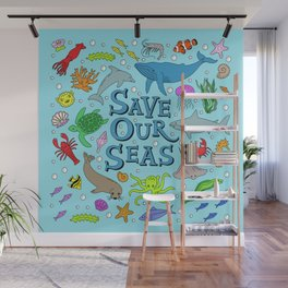 Save Our Seas Marine Ocean Conservation Art Wall Mural