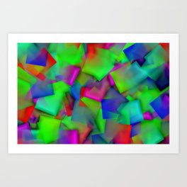 Softly cubism ... Art Print