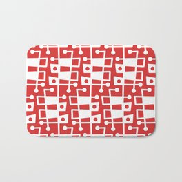 Mid Century Modern Abstract 213 Red Bath Mat
