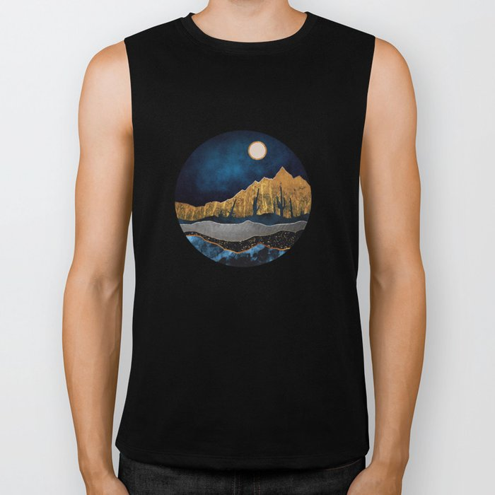 Midnight Desert Moon Biker Tank