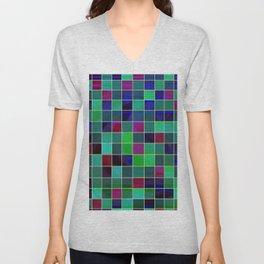 checkered Unisex V-Neck