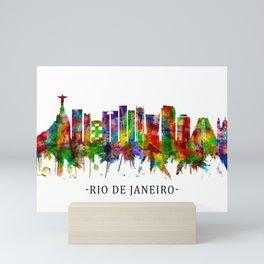 Rio de Janeiro Brazil Skyline Mini Art Print