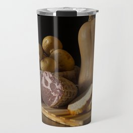 Italian Still Life with Ham and Vegetables Travel Mug