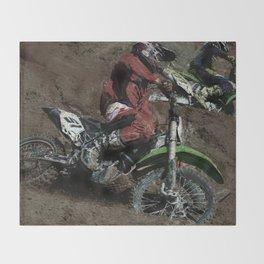 Turning Point - Motocross Racing Throw Blanket