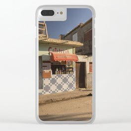 Beautiful and colourful little cafeteria in Trinidad, Cuba. Clear iPhone Case