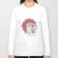 coffe Long Sleeve T-shirts featuring Coffe mugs by Kulistov