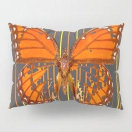 OLD WORN DESICCATED BUTTERFLY PATTERN ART Pillow Sham