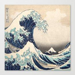 The Great Wave off Kanagawa by Hokusai Canvas Print