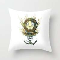 abyss Throw Pillows featuring Abyss by Emeline Chauvin