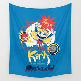 Kara vs the Forces of Darkseid Wall Tapestry