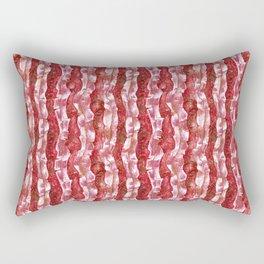 Bacon Seaweed Red Stripe Striped Pattern Rectangular Pillow