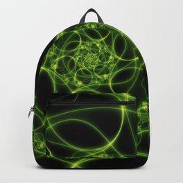 Dancing Green Light, Abstract Fractal Art Backpack