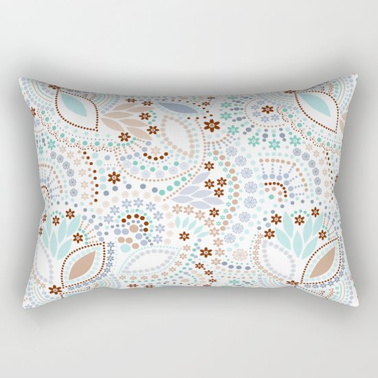Colorful pattern light pastel colors with beads Rectangular Pillow