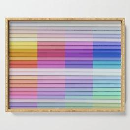color bar Serving Tray