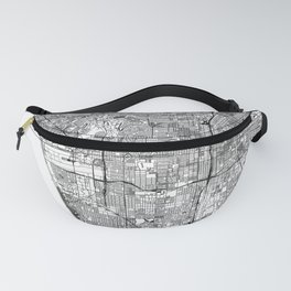 Los Angeles White Map Fanny Pack