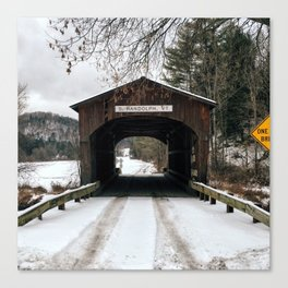 Winter is the Bridge Between One Year and Another Canvas Print