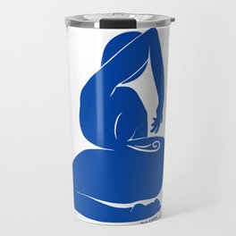 Reaching Nude in Matisse Blue Travel Mug