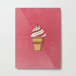 FAST FOOD / Ice Cream Metal Print