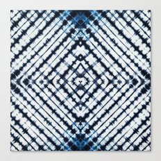 Diamonds Indigo Canvas Print
