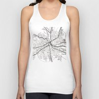 nashville Tank Tops featuring Vintage Nashville Black by Upperleft Studios