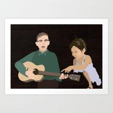 Guitar kids Art Print